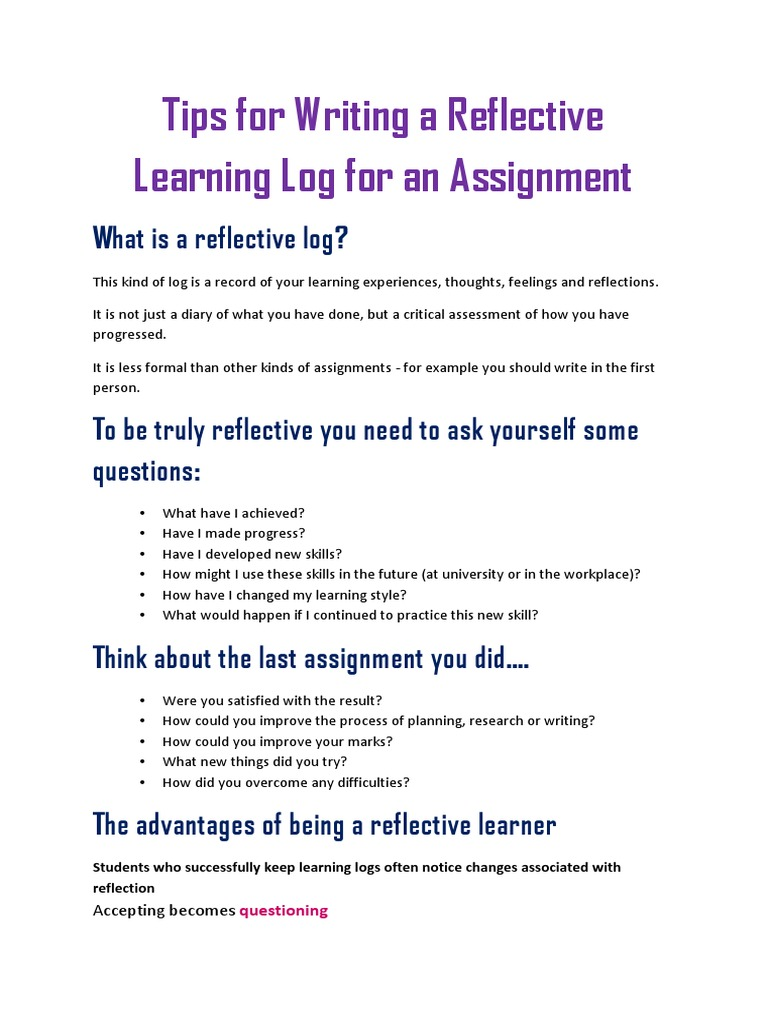 Tips for Writing Reflective Logs   Wiki   Internet Troll