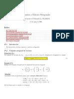 Conjuntos y Matrices Ortogonales