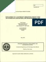 AD-E403 047__Development of a Lightweight Ammunition Concept [2005]