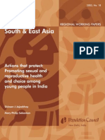 Actions That Protect - Promoting Sexual and Reproductive Health and Choice Among Young People in India - Jeejeebhoy & Sebastian