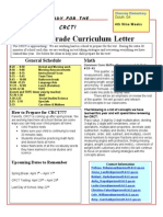 4th nine weeks curriculum letter