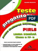 Teste pregatitoare pentru Evaluarea Nationala PIRLS Limba romana clasa a IV-a