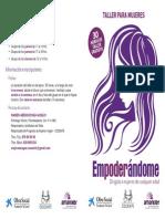 Diptico Taller Empoderandome 2014