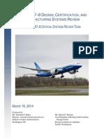 Boeing 787 Final Report FAA