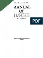 L. Ron Hubbard - Manual of Justice 1959