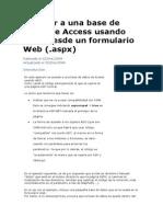 Acceder a Una Base de Datos de Access Usando ADO