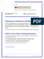 mvlc newsletter january 2014