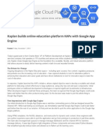 Google Cloud Platform Blog - Kaplan Builds Online Education Platform KAPx With Google App Engine