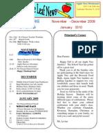 Nov Newsletter 2009