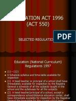 Act 550 Regulations