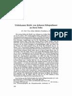 Hübscher Unbekannte Briefe von Johanna Schopenhauer III