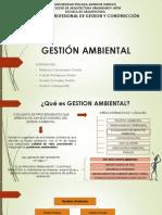 GESTION AMBIENTAL EN OBRAS DE CONSTRUCCIÓN