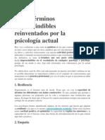 Cinco términos imprescindibles reinventados por la psicología actual