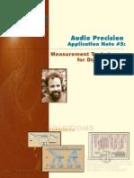 Audio Precision AN5 Digital Audio Measurement