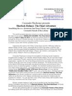 SherlockHolmes-PressReleaseFINAL 4-19-14