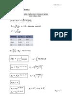 Formula Sheet Exam I