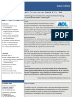 Success Story AOL Deutschland GmbH & Co. KG.