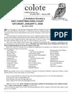 January 2008 Santa Barbara Audubon