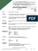 PA 100 - 101 - 200 Adaptadores de Parqueo Brazos Bottom Loading