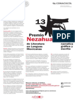 Premio Nezahualcoyotl CONACULTA