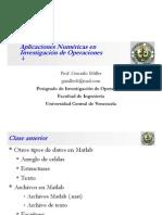 Clase 4 Aplicaciones Numéricas en Investigación de Operaciones