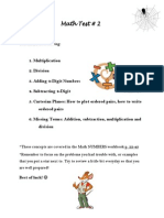 math test 2 study guide
