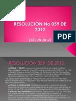 resolucion 059