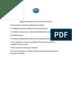 Reglas Generales Para El Uso de La Piscina (1)