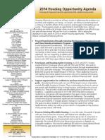 Oregon Housing Alliance 2014 Agenda 2.5.14