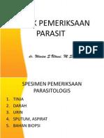 Teknik Pemeriksaan Parasit