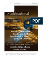72783538 Multinational Business Finance Solution Manual 12th Edition by Etiman Stone Hill Moffitt Prepared by Wasim Orakzai IM Sciences KUST ISBN 0 321 1789