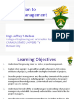 Introduction to Project Management (Engr. Jeffrey Dellosa)
