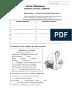 Guía Nº3 sustantivos, artículos y adjetivos