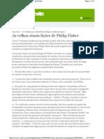 As velhas atuais lições de Philip Fisher