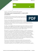 Ativismo governamental e o mercado acionário