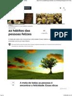 22 hábitos das pessoas felizes _ Jornal do Empreendedor