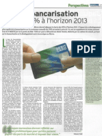 Article Le Matin Etude Bancarisation 2009-01-16