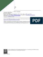 Abstand Und Ausband - Sociolinguistics