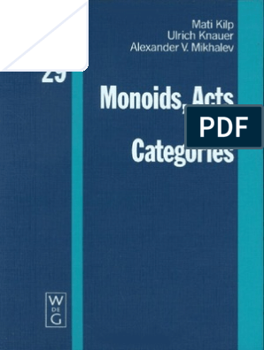 Monoids, Acts and Categories  | Category Theory | Group