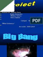 Big Bang-ul proiect