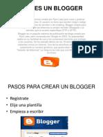 -Que Es Un Blogger