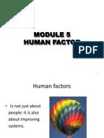 5 Human Factor