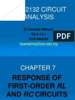 CH7-RESPONSE OF FIRST-ORDER RL AND RC CIRCUITS