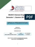 Speech General English