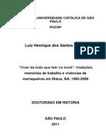 """TESE LUIZ BLUME_""""Viver de tudo que tem na maré"""" Ilhéus BA 1960-2008"""
