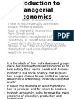 Introduction to Economics and Managerial Economics
