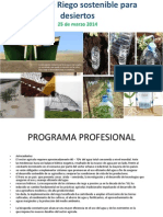 PROGRAMA I Curso de Riego Sostenible Para Desiertos