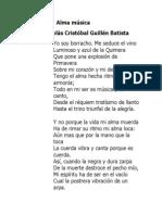Alma música Nicolás Cristóbal Guillén Batista
