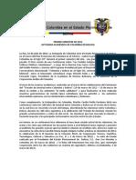 Nota de Prensa Foro Colombia Siglo XXI Primer Semestre 2012