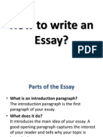 How to Write an Essay (1)